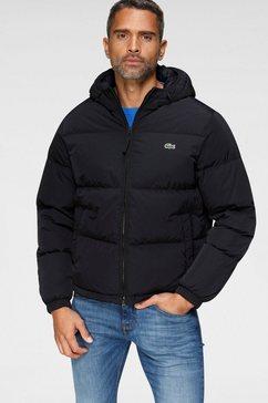 lacoste gewatteerde jas colourblocking zwart