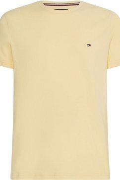 tommy hilfiger t-shirt »stretch slim fit tee« geel