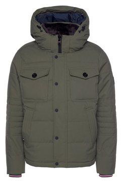 tommy hilfiger bomberjack »removable fur hooded bomber« groen