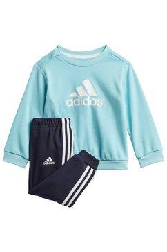 adidas performance joggingpak badge of sport french terry (set, 2-delig) blauw