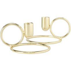 leonique kaarsenhouder blois gemaakt van ijzer (set, 2 stuks) goud