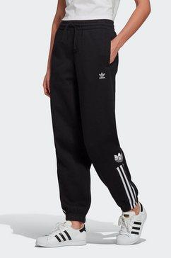 adidas originals trainingsbroek »adicolor 3d trefoil fleece« zwart