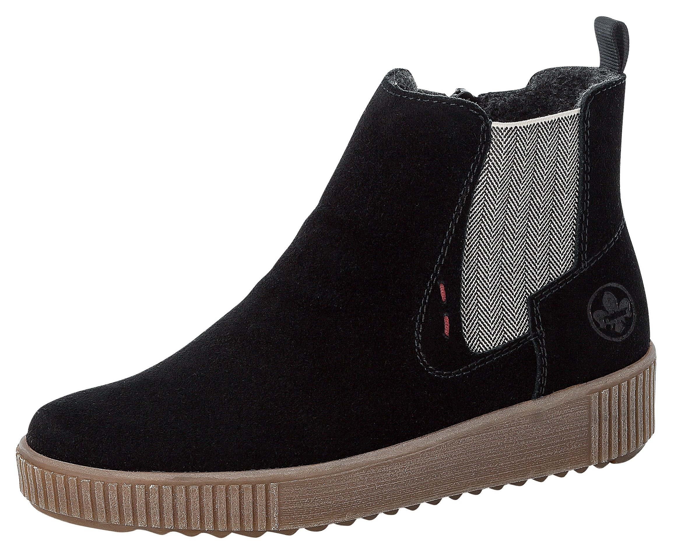 Rieker Chelsea-boots met geruite stretchinzet bestellen: 30 dagen bedenktijd
