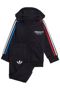 adidas originals joggingpak »hoodie fz set« zwart