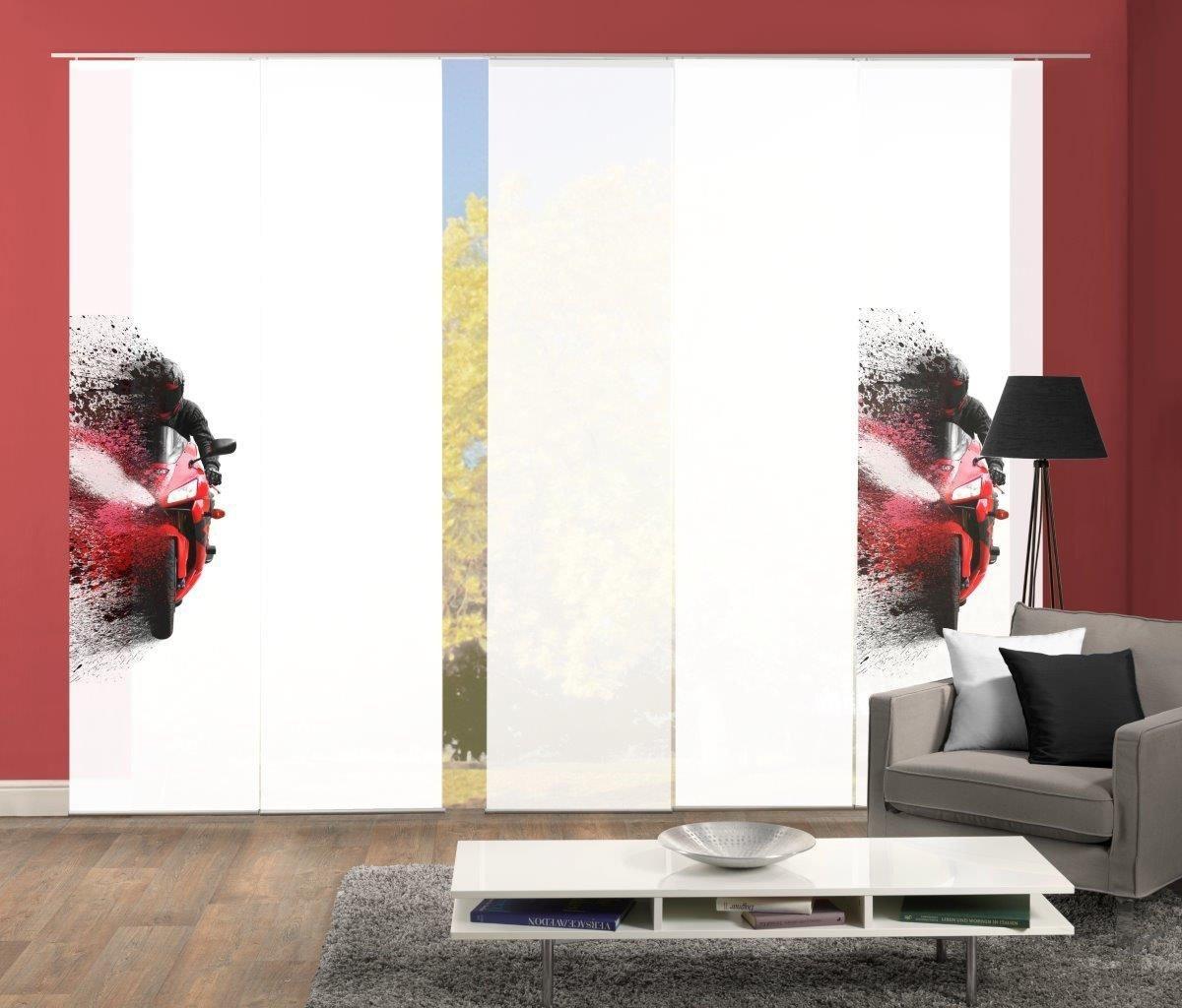 HOME WOHNIDEEN Paneelgordijn AKIDO 5er SET Gordijnstof in zijde-look, digitaal bedrukt (5 stuks) online kopen op otto.nl