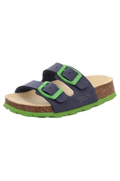 superfit slippers met contrastkleurige gespriempjes voor het aanpassen blauw