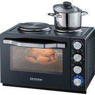 severin multifunctionele oven mini-oven, mini-keuken, bak- en grilloven zwart