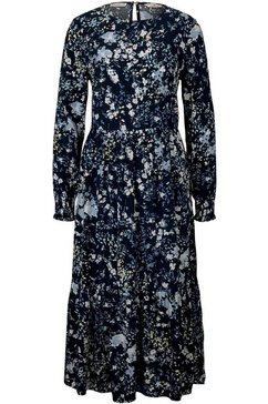 tom tailor maxi-jurk met volants met bloemmotief blauw