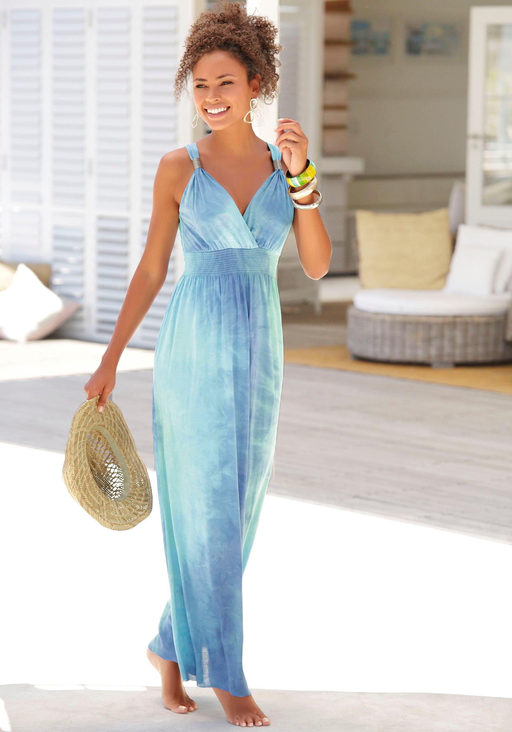 Lascana maxi-jurk met batikprint online kopen op otto.nl