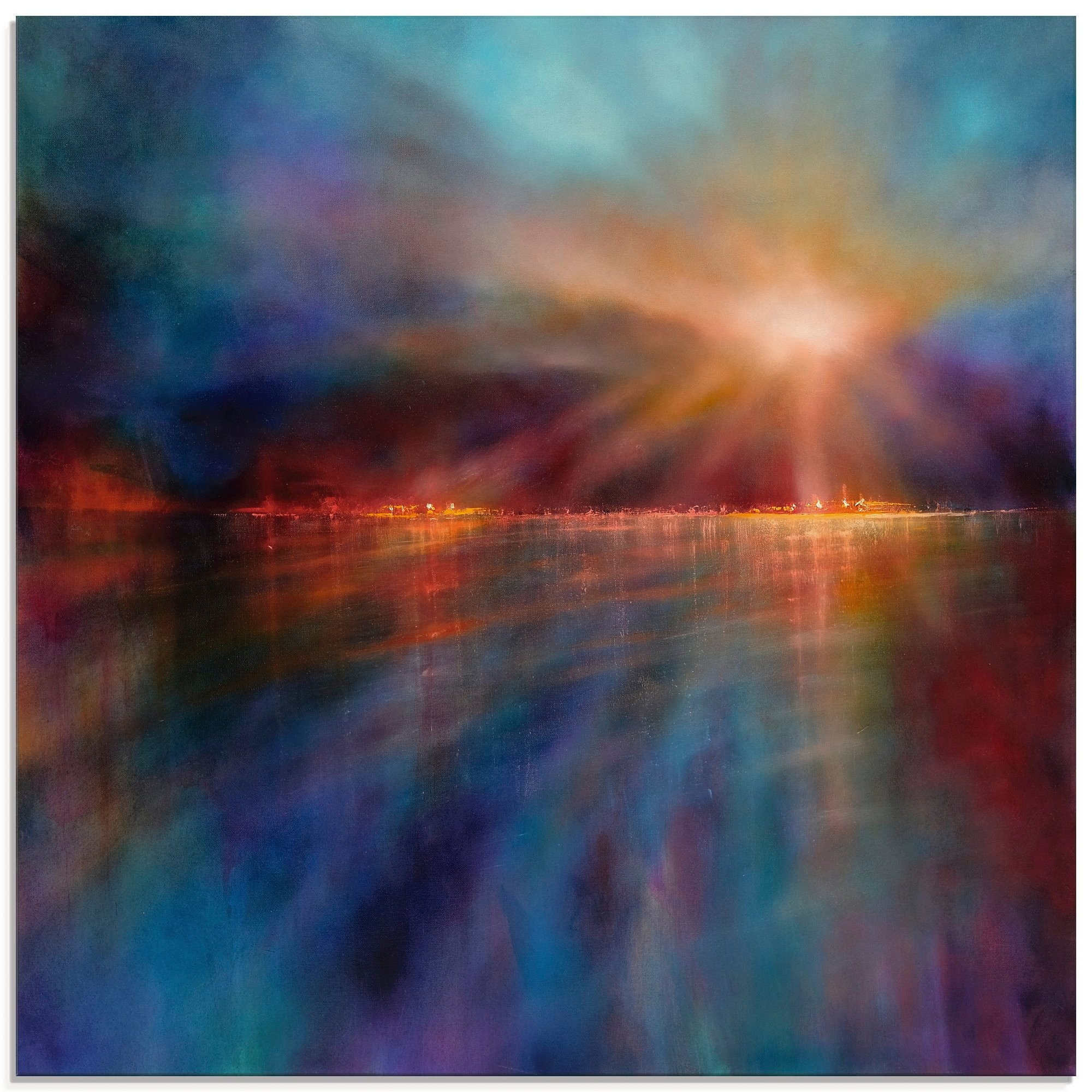 Artland print op glas Een nieuwe morgen (1 stuk) nu online bestellen