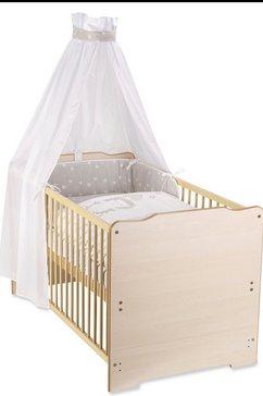 zoellner compleet bed »sternenregen« beige