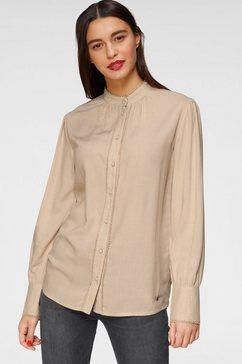 ajc blouse met lange mouwen beige