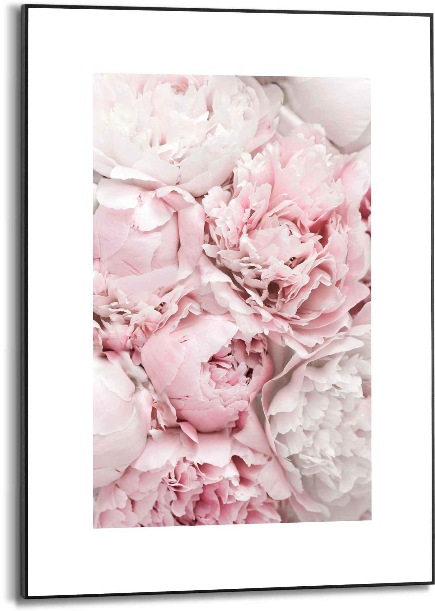 Reinders! wanddecoratie Gerahmtes Bild Pfingstrosen Blumen - Romantisch (1 stuk) - gratis ruilen op otto.nl