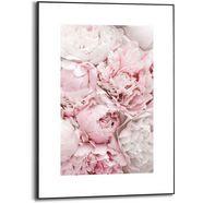reinders! wanddecoratie ingelijste print pioenrozen bloemen - romantisch (1 stuk) roze