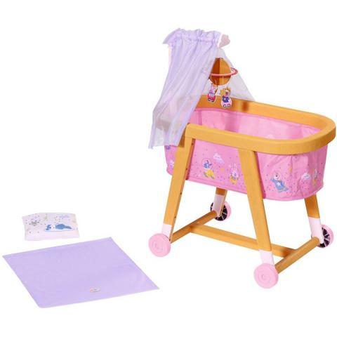 Baby Born poppenbed Welterusten wieg met stoffen luifel, planetenmobiel en beddengoed