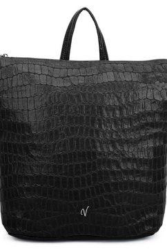 vleder bag shopper regina in modieuze animal-look, bekend uit de tv-serie gzsz zwart