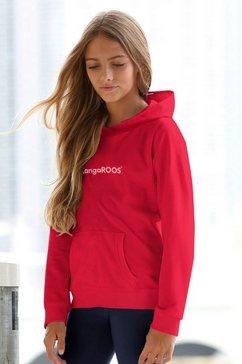 kangaroos hoodie met flockprint rood