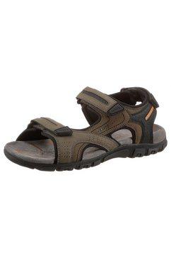geox sandalen uomo sandal strada met hielriempje als klittenbandsluiting groen