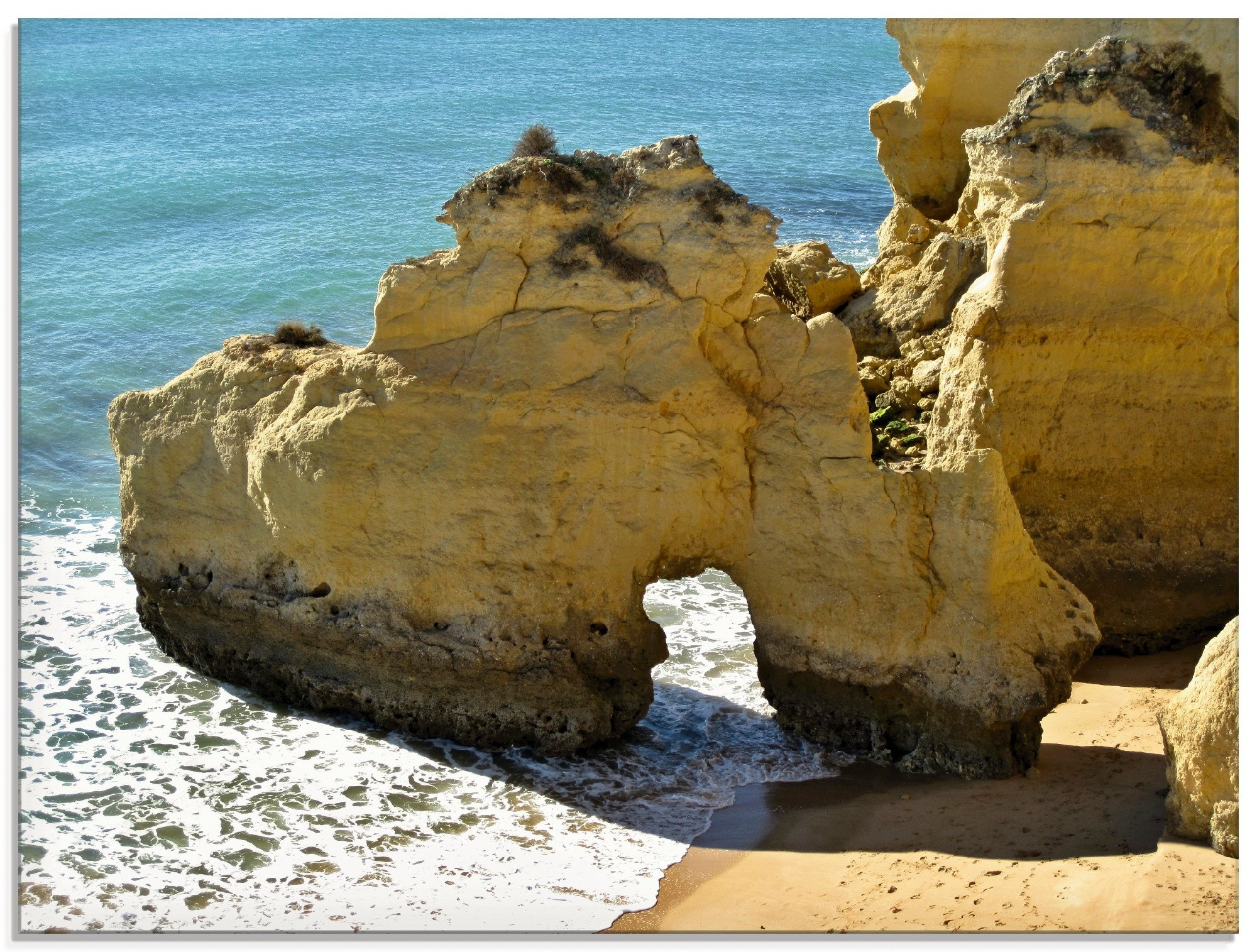 Artland print op glas Typisch rotsachtige Algarve (1 stuk) - verschillende betaalmethodes