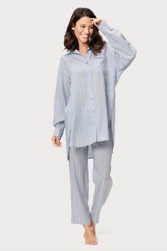 marc o'polo nachthemd met streepdessin blauw