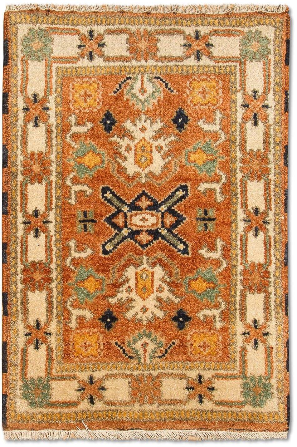 morgenland wollen kleed Kazak Teppich handgeknüpft orange goedkoop op otto.nl kopen