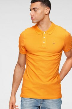 tommy jeans poloshirt tjm original fine pique polo oranje
