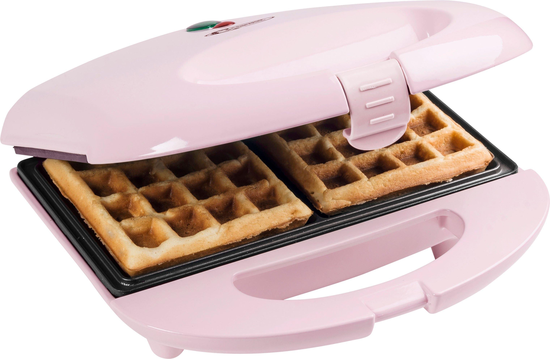 bestron wafelijzer Sweet Dreams voor belgische wafels, in retrodesign, voor 2 wafels, roze nu online bestellen