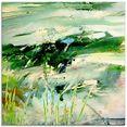 artland print op glas kunst natuur (1 stuk) groen