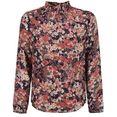 garcia klassieke blouse met bloemenprint all-over blauw