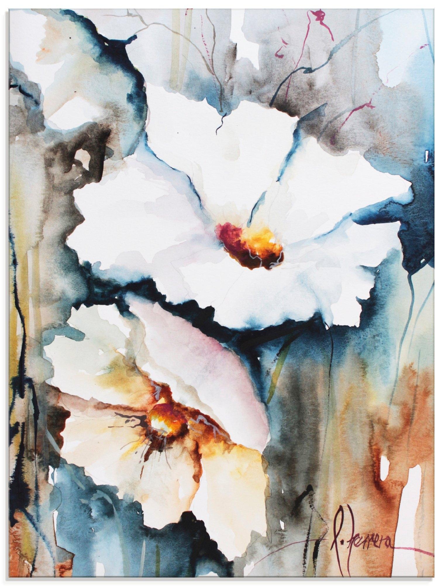 Artland print op glas Aquabloemen II (1 stuk) in de webshop van OTTO kopen