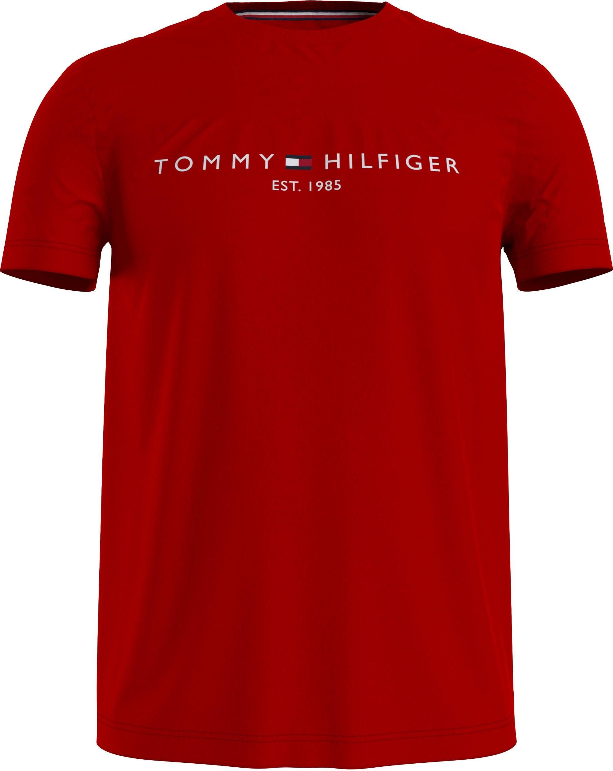 TOMMY HILFIGER T-shirt »Tommy Logo Tee« goedkoop op otto.nl kopen