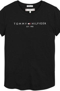 tommy hilfiger t-shirt essential tee s-s zwart