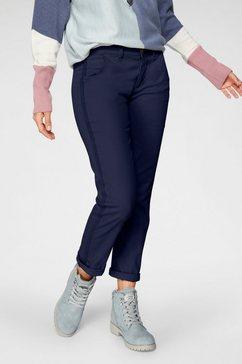 boysen's 7-8-broek met modieuze strepen opzij blauw