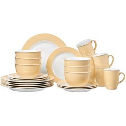 ritzenhoff  breker combi-servies doppio (set, 24 delig) geel