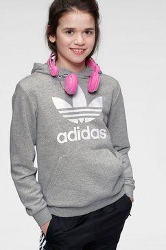 adidas originals sweatshirt trefoil hoodie grijs
