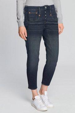 herrlicher 7-8 jeans shyra cropped high waisted blauw