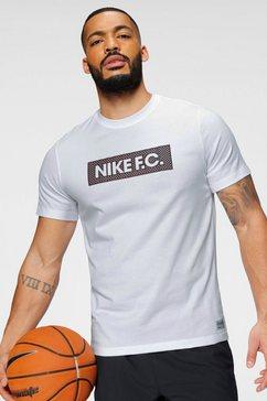 nike t-shirt »m nk fc dry tee seasonal block« wit