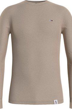 tommy jeans shirt met lange mouwen »tjm mini waffle jaspe longsleeve«