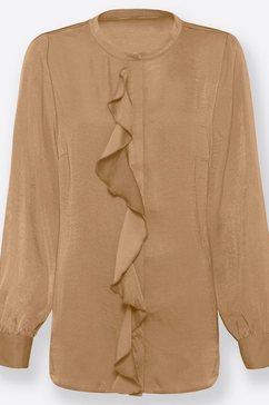 classic inspirationen satijnen blouse bruin
