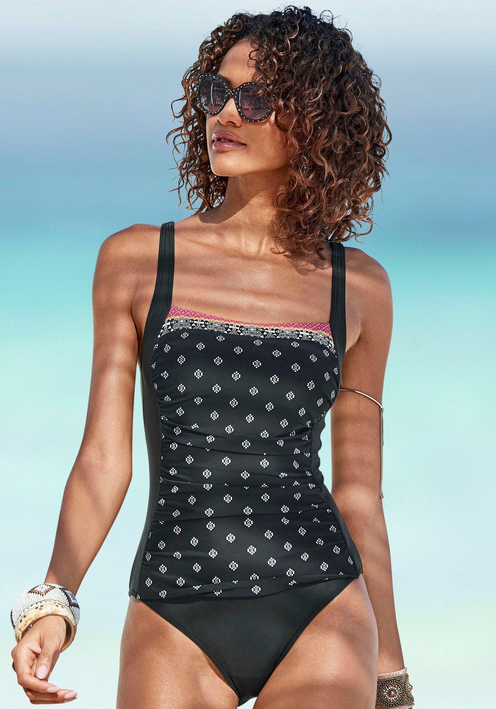 Lascana badpak Kimer met moderne print en modellerend effect voordelig en veilig online kopen