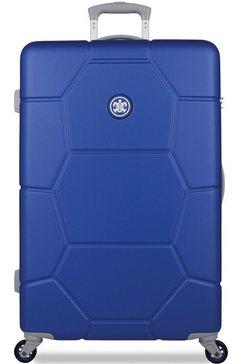 suitsuit harde trolley 'caretta, 75 cm', 4 wieltjes blauw