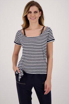 monari shirt met korte mouwen blauw