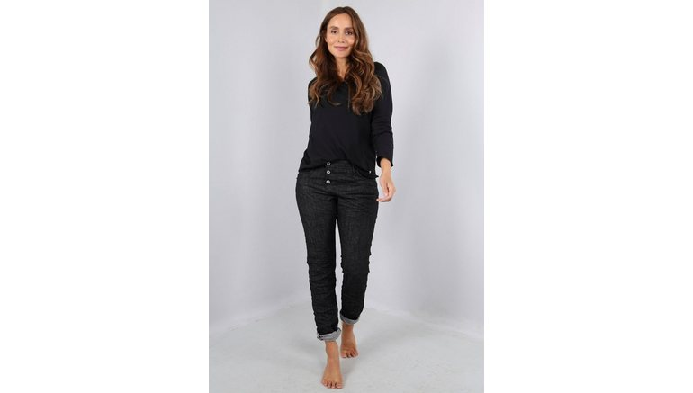 Please Jeans boyfriendjeans P 78A Black denim