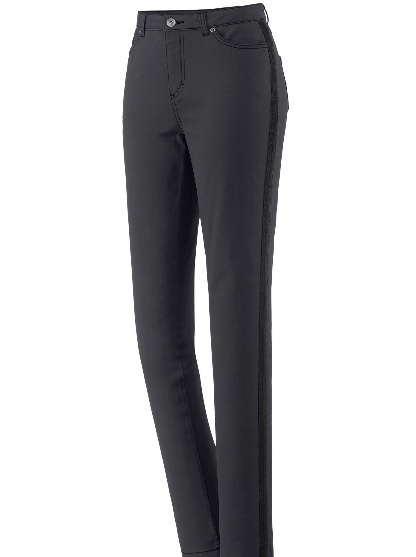Casual Looks Jeans met afkledende contraststrepen opzij voordelig en veilig online kopen