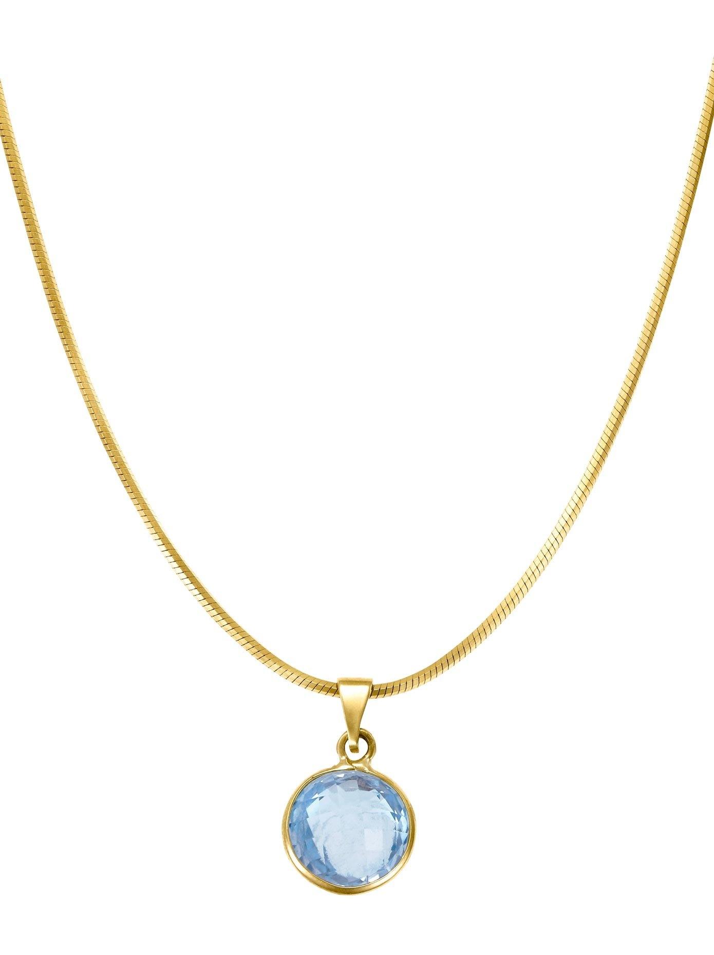 Lady Hanger met 1 ronde blauw topaas voordelig en veilig online kopen