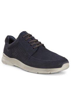 ecco sneakers irving met stijlvolle perforatie blauw
