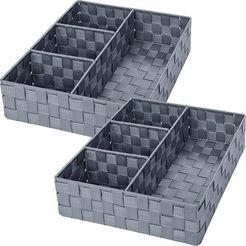 wenko badkamerorganizer adria (set, 2 stuks) grijs
