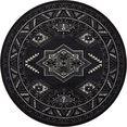 nouristan vloerkleed saricha belutsch korte pool, orint-look, woonkamer zwart