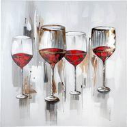 gilde artprint op linnen schilderij wijnproeverij (1 stuk) multicolor