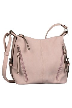 tom tailor schoudertas caia met mooie details roze